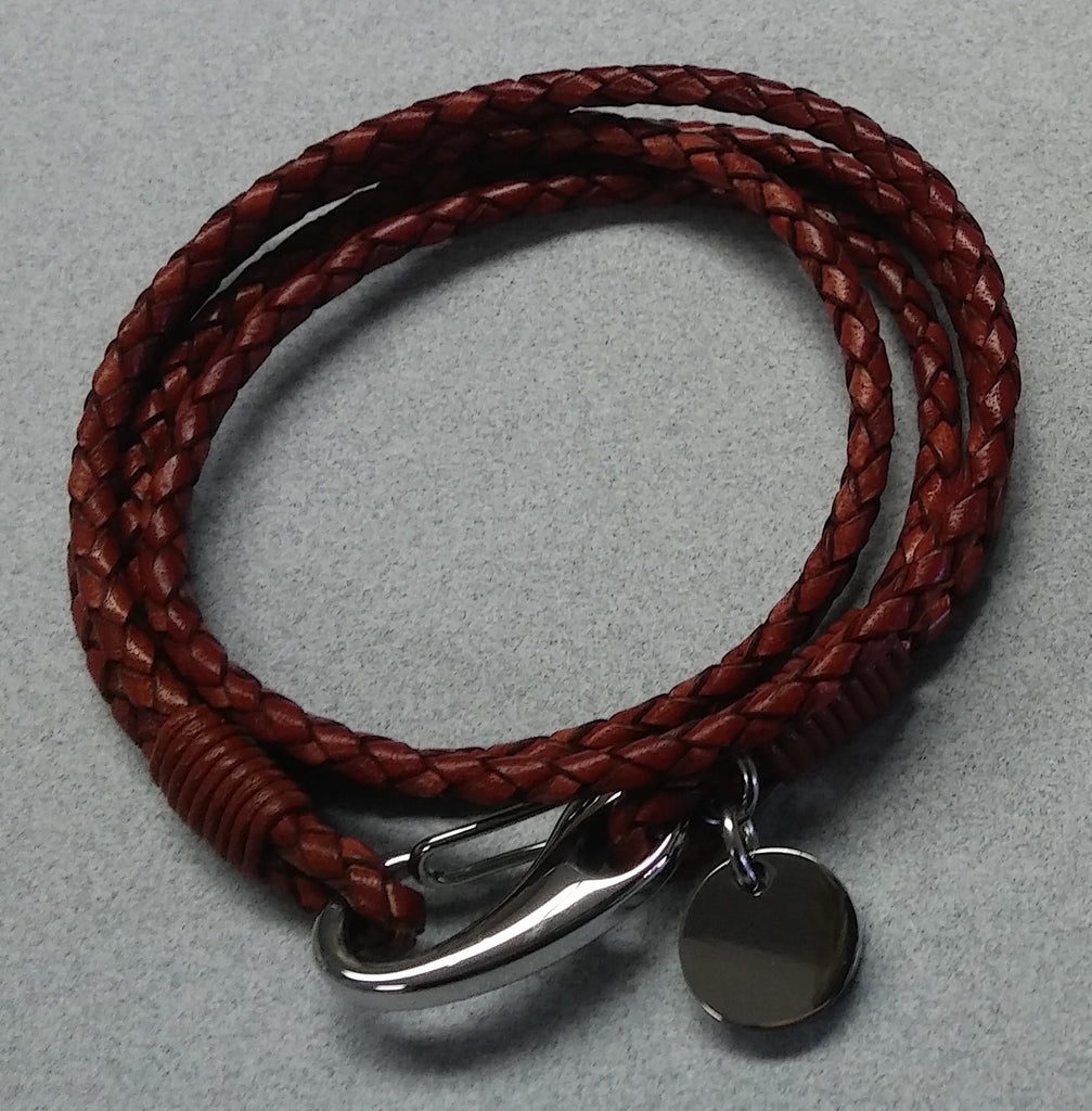 Braided Leather Wrap