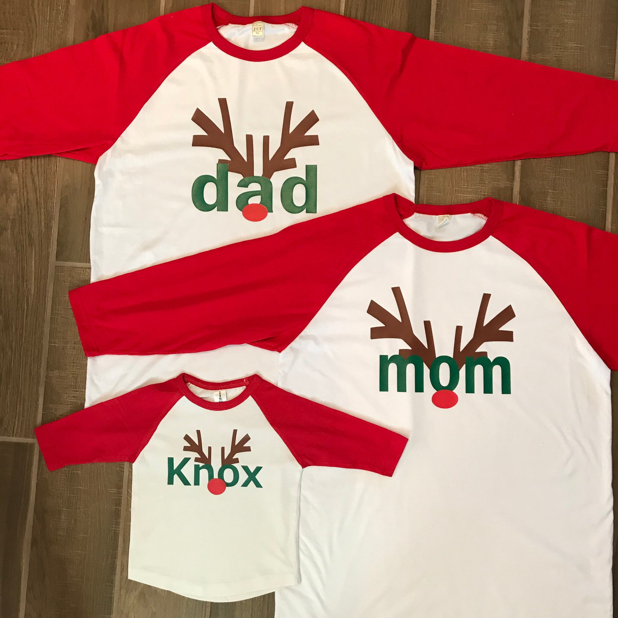 Personalized Reindeer Antlers T-Shirts