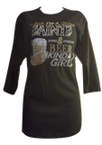 Saints & Beer Kinda Girl/Long Sleeve T-Shirt - ShimmerMe.org