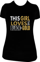 This Girl Loves The Black & Gold T-Shirt