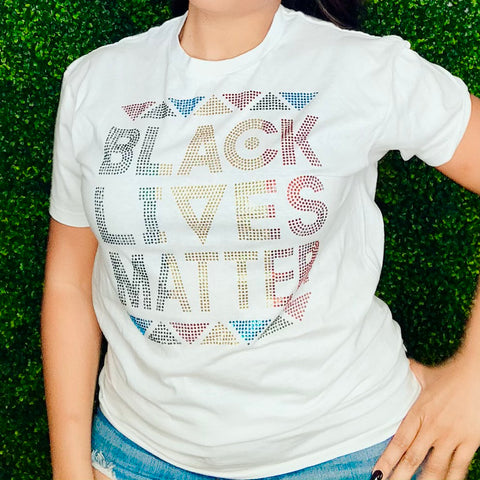 Black Lives Matter Rhinestone T-Shirt