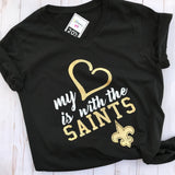 My Heart is with the Saints T-Shirt