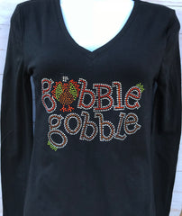 Gobble Gobble  Rhinestone Thanksgiving T-Shirt