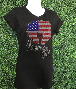 All American Girl Rhinestone t-shirt