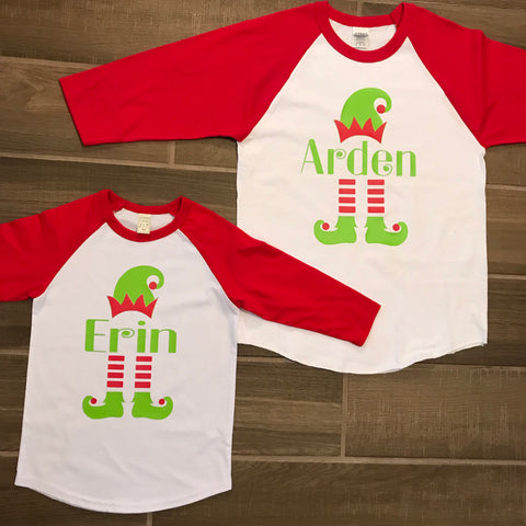 Personalize Elf T-Shirts