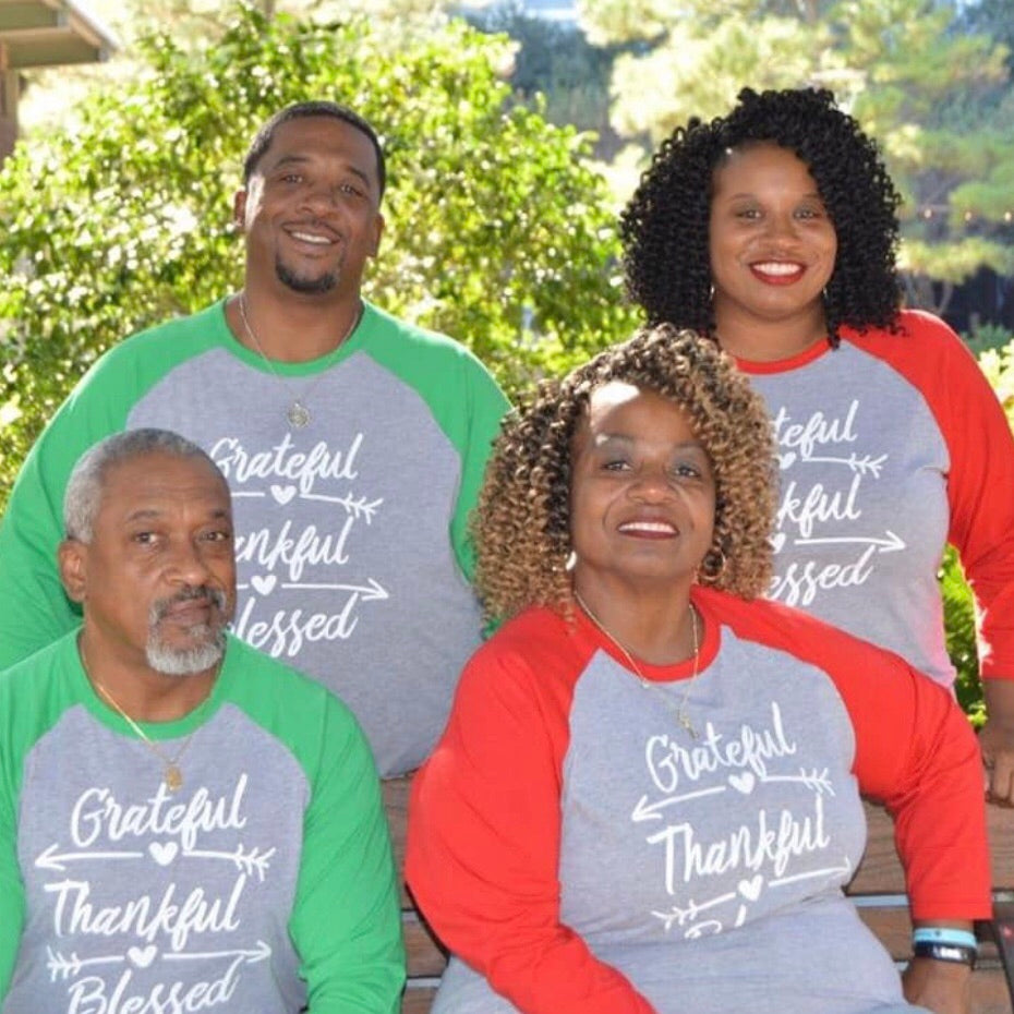 Grateful Thankful Blessed Christmas T-Shirts