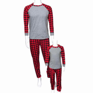 Christmas Plaid Family  Pajamas Set
