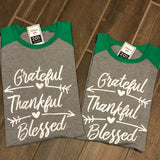 Grateful Thankful Blessed Christmas Tees
