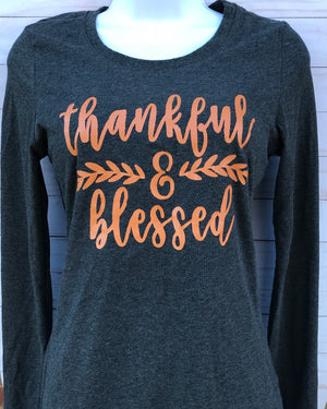 Thankful & Blessed Thanksgiving T-Shirt