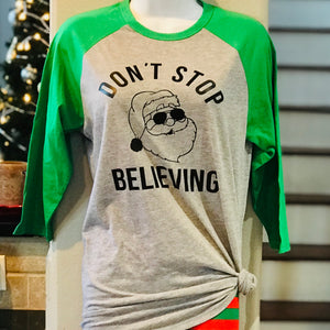 Don't Stop Believing Santa T-Shirts