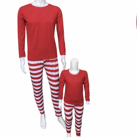 Candy Cane Christmas Pajamas 2 piece