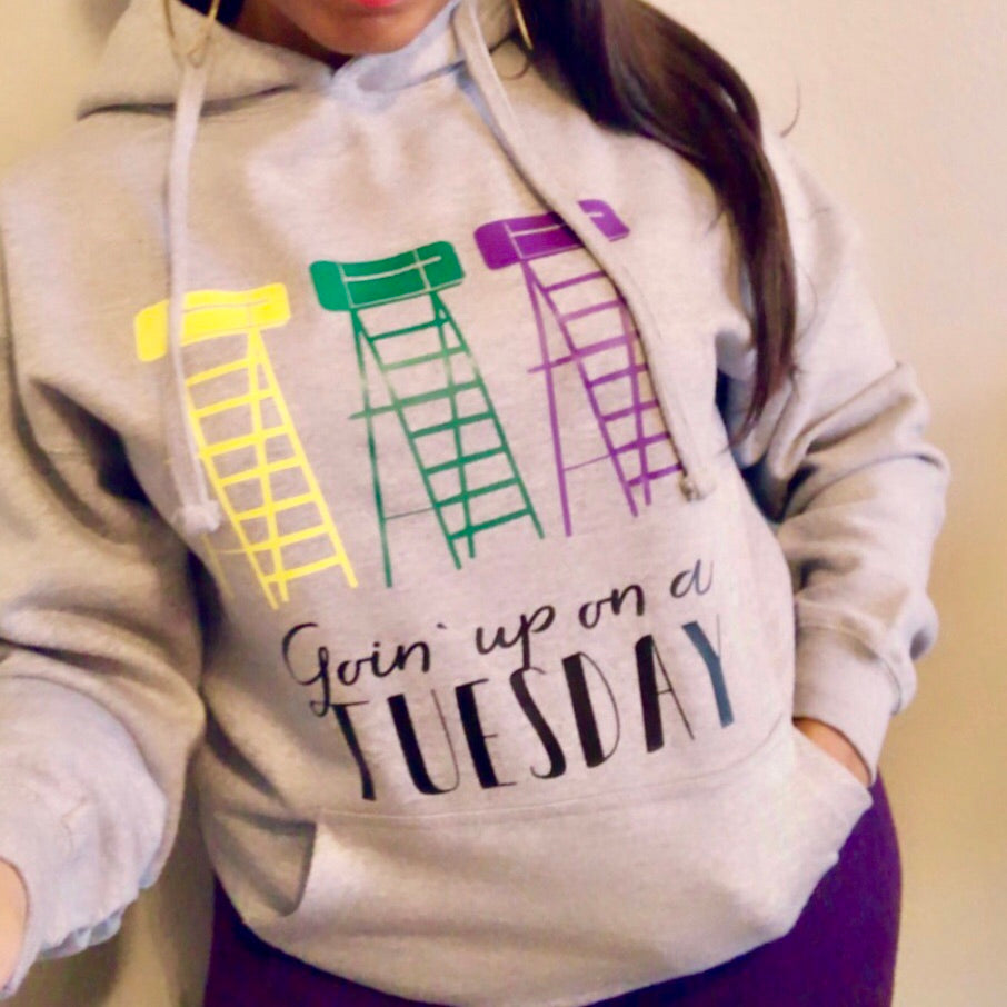 Going Up On A Tuesday Mardi Gras Hoodie