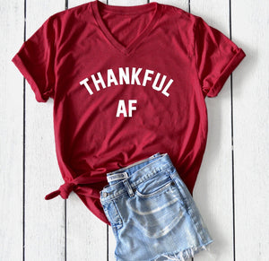 Thankful AF Thanksgiving T-Shirt