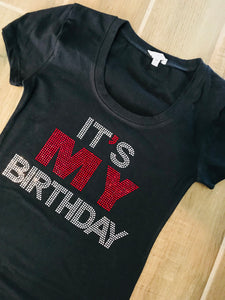 IT'S MY BIRTHDAY RHINESTONE T-Shirt