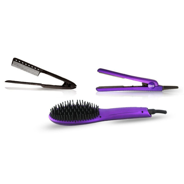 Purple Heated Brush Set | Set