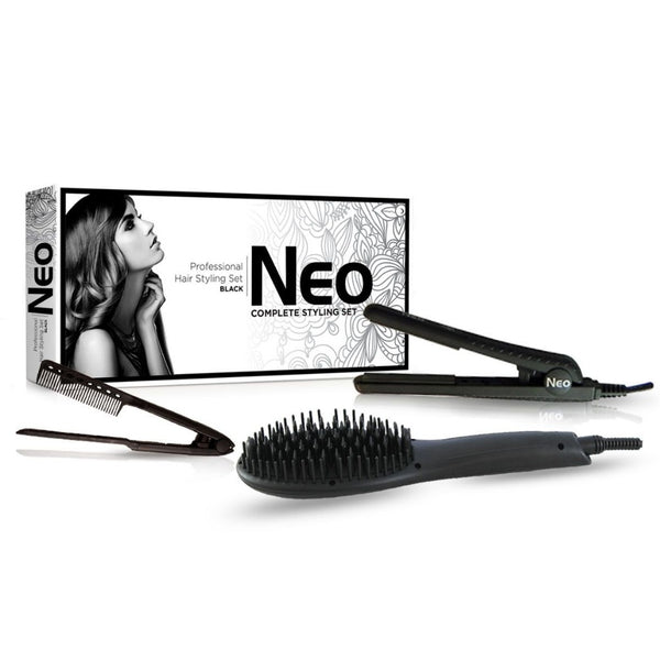 Black Heated Brush Set | Set
