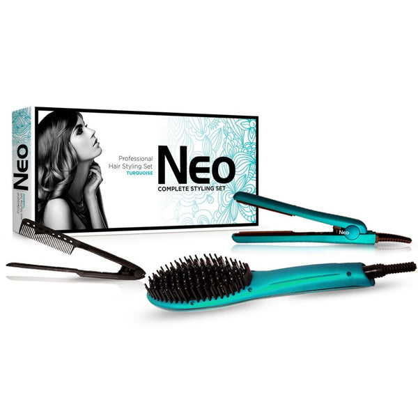 Turquoise Heated Brush Set | Set