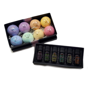 Bath Bombs & Essential Oils Set