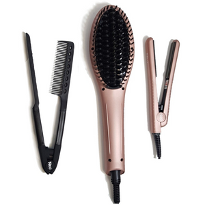 Rose Gold Heated Brush Set | Set