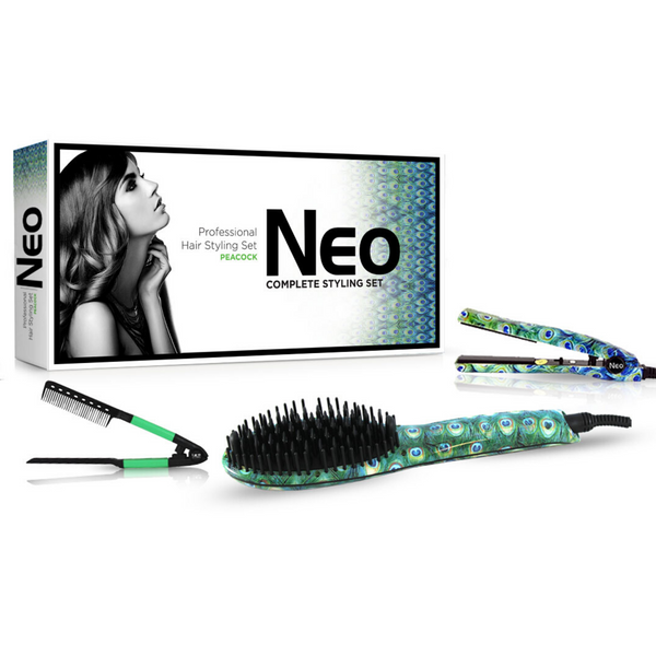 Peacock Heated Brush Set | Set