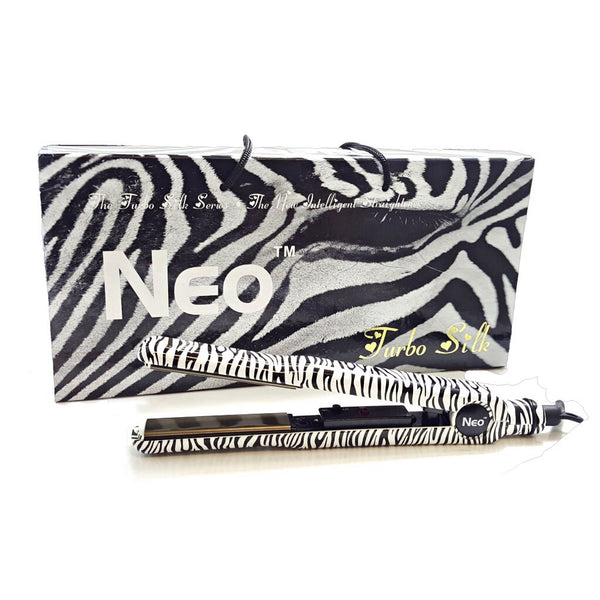 White Zebra Turbo Silk | Flat Iron
