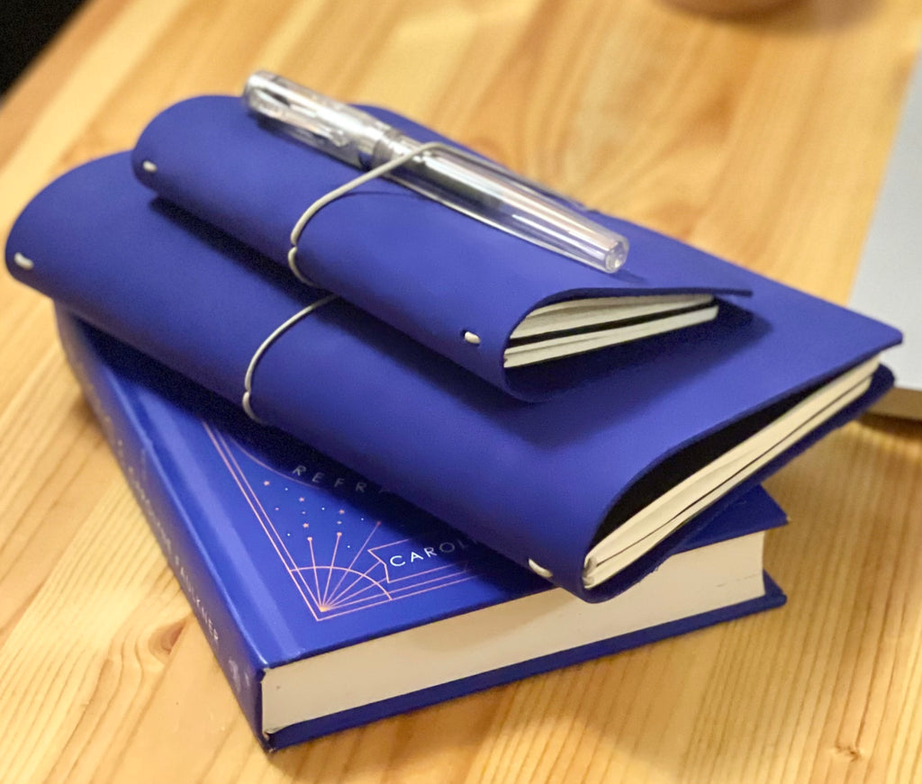REFILLABLE LEATHER JOURNAL - SPECIAL EDITION YVES KLEIN BLUE