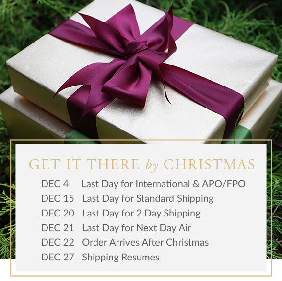 Get It There By Christmas Shipping Schedule