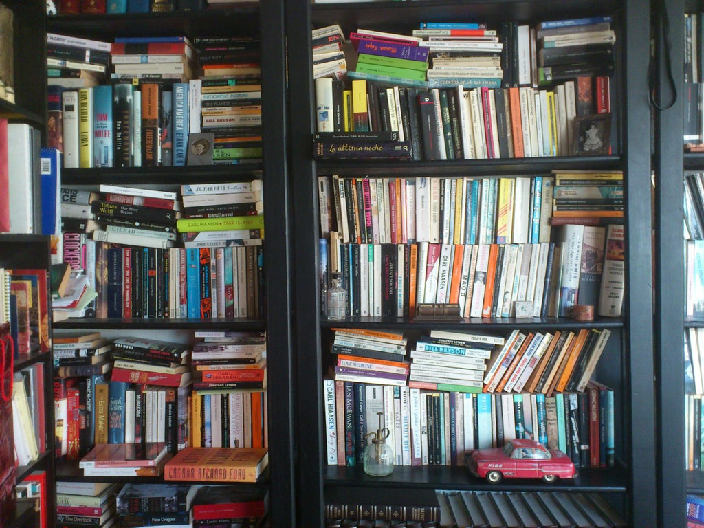 Image result for messy bookshelf