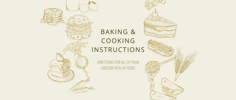 At Home Baking & Cooking Instructions