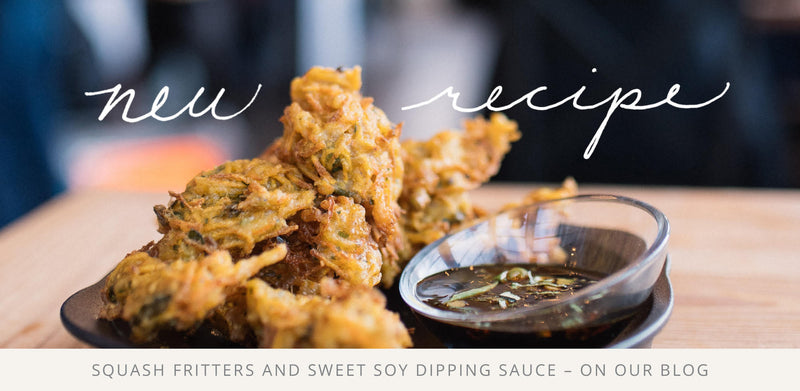 Squash Fritters & Sweet Soy Dipping Sauce