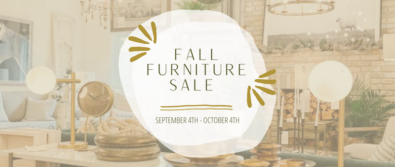 Mark Your Calendars - Our Fall Furniture Sale Starts on September 4th