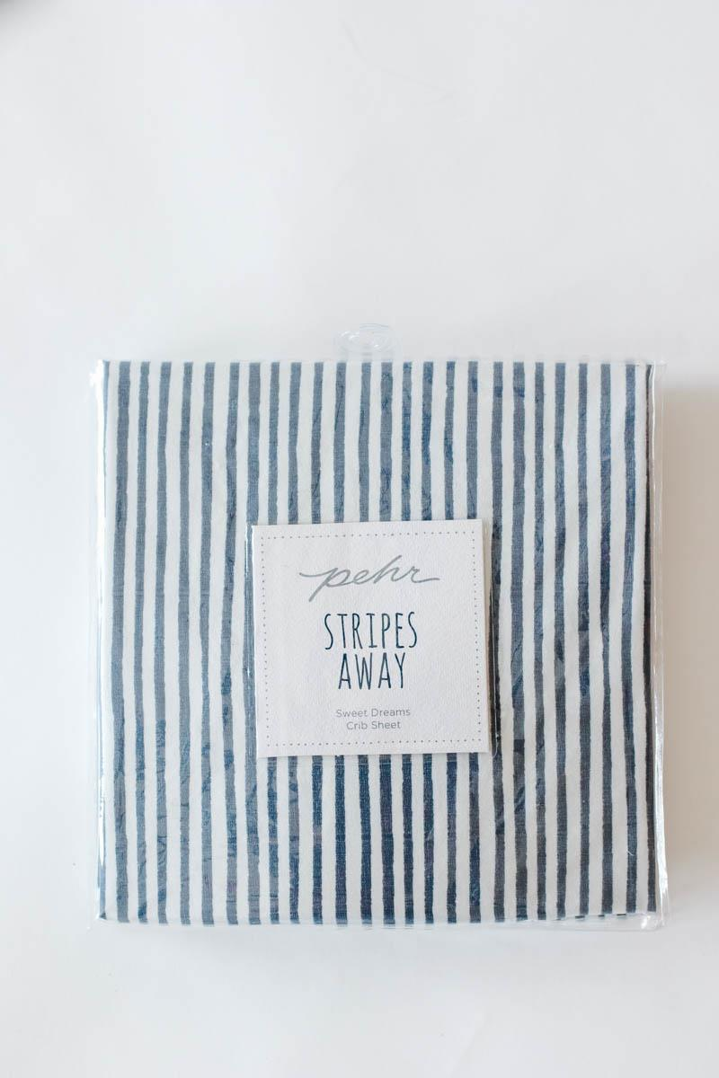 Stripes Away Crib Sheets