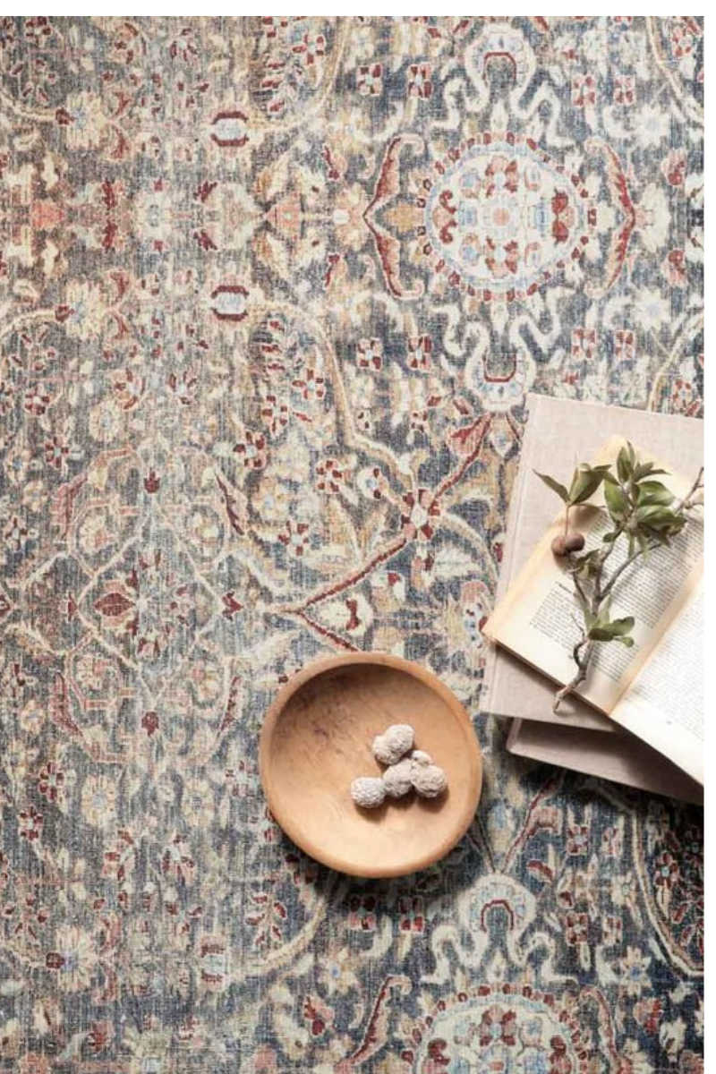 Jules Collection- Denim/Spice Rugs