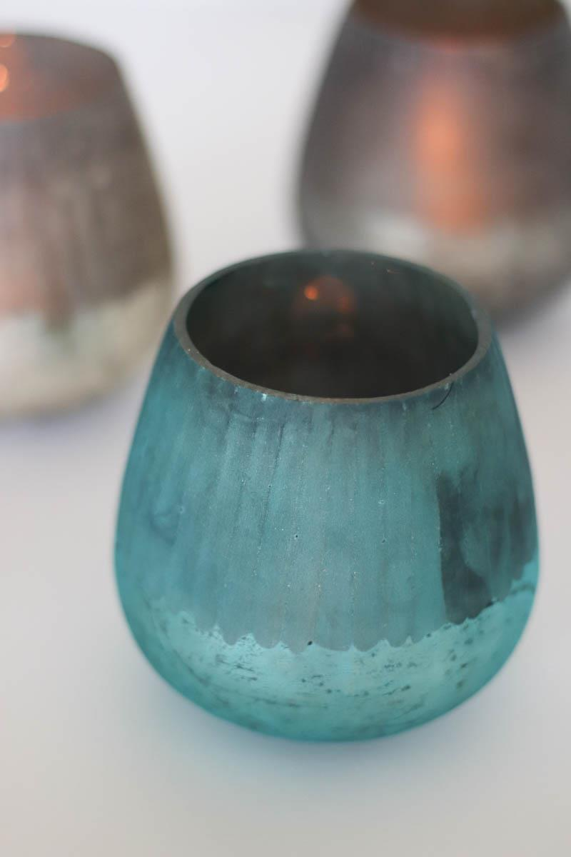 Round Frosted Candleholder