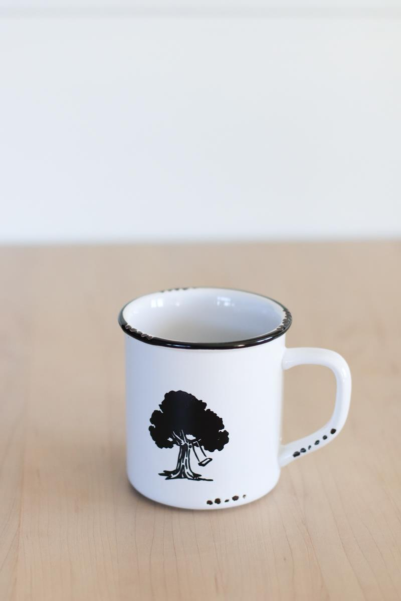 Enamel look-a-like Tree Mug