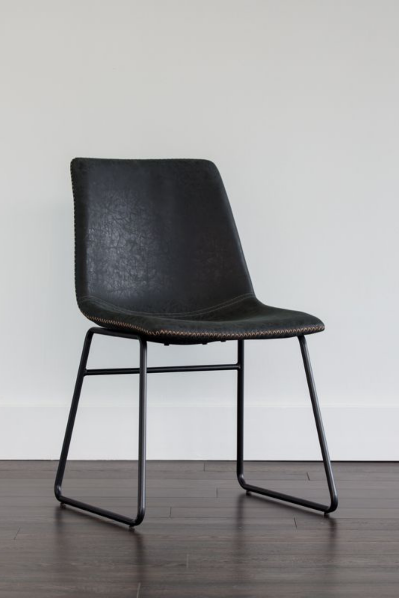 Cal Antique Black Dining Chair