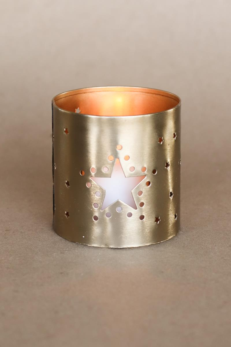 Gold Moon & Star Tealight Holder
