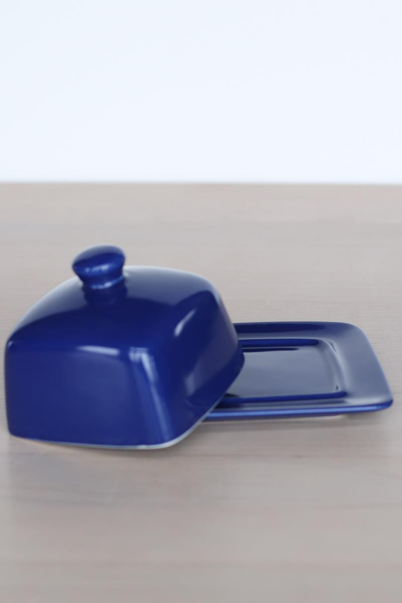 Navy Square Butterdish