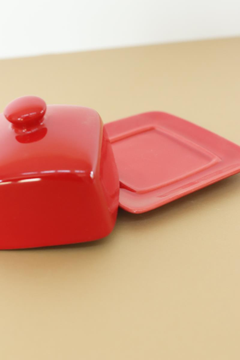 Red Square Butterdish