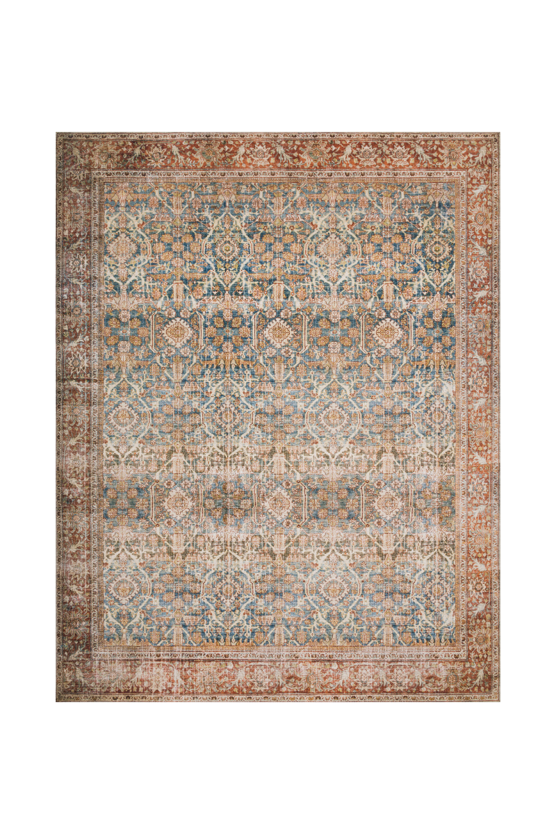 Layla Collection -  Ocean / Rust Rug