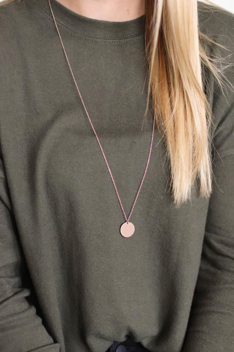 Long Drop Circle Necklace
