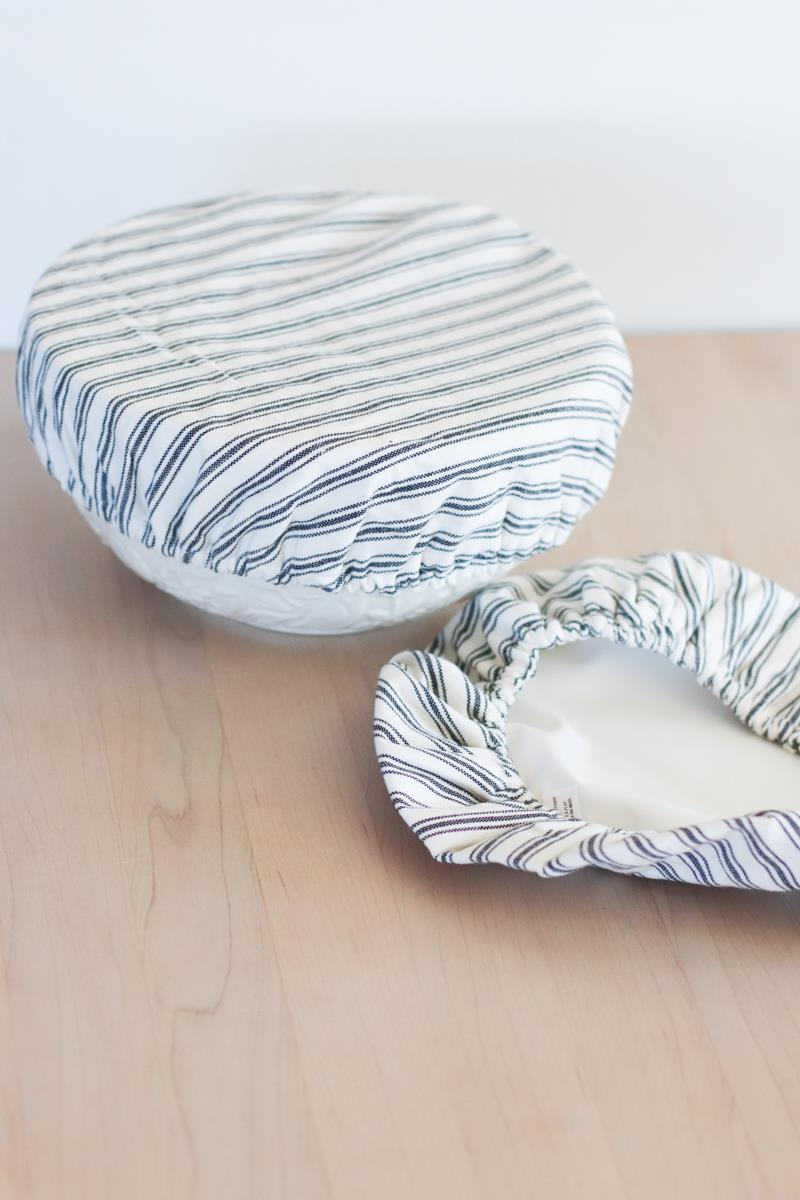 Ticking Stripe Bowl Cover Set