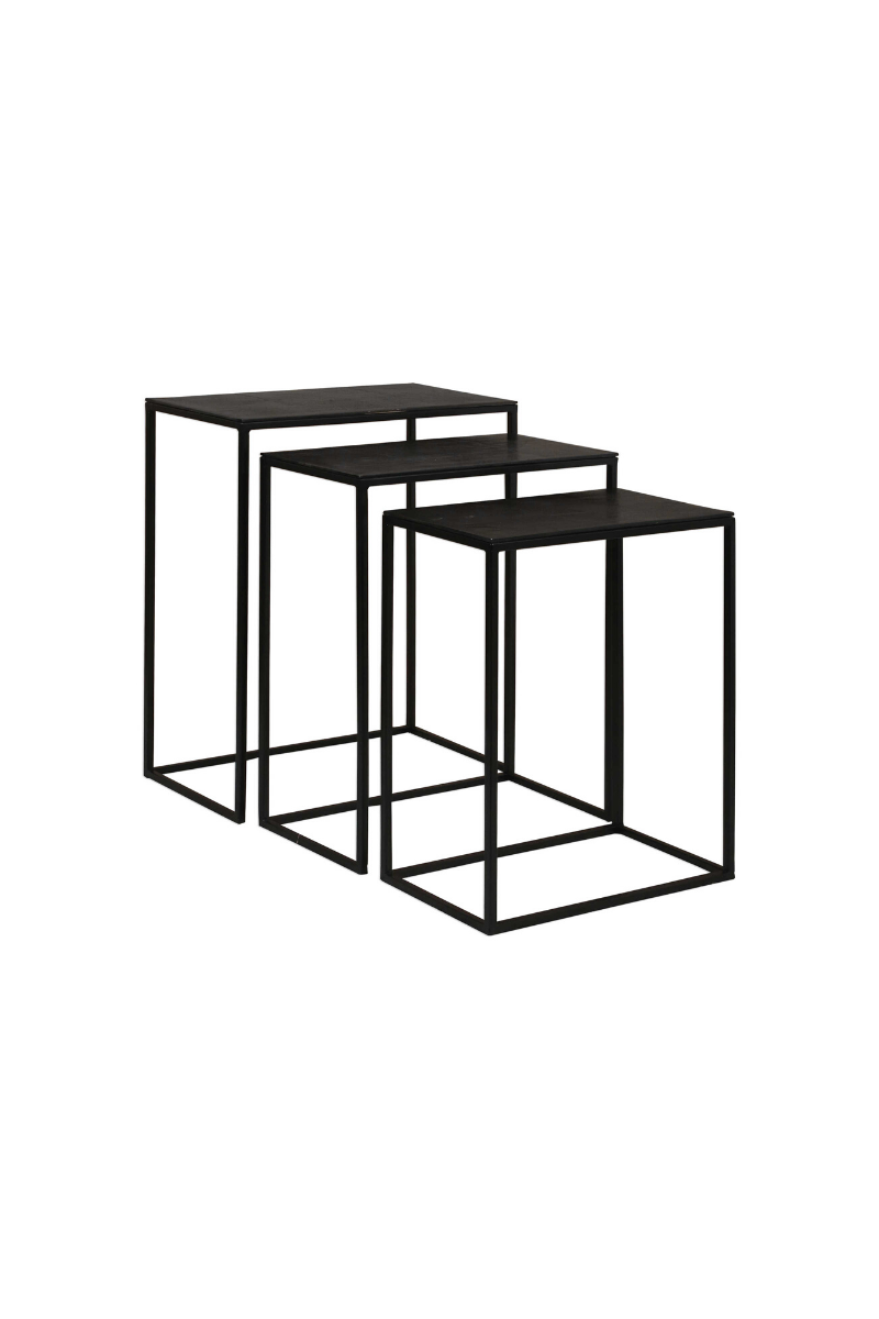 Coreene Black Nesting Tables