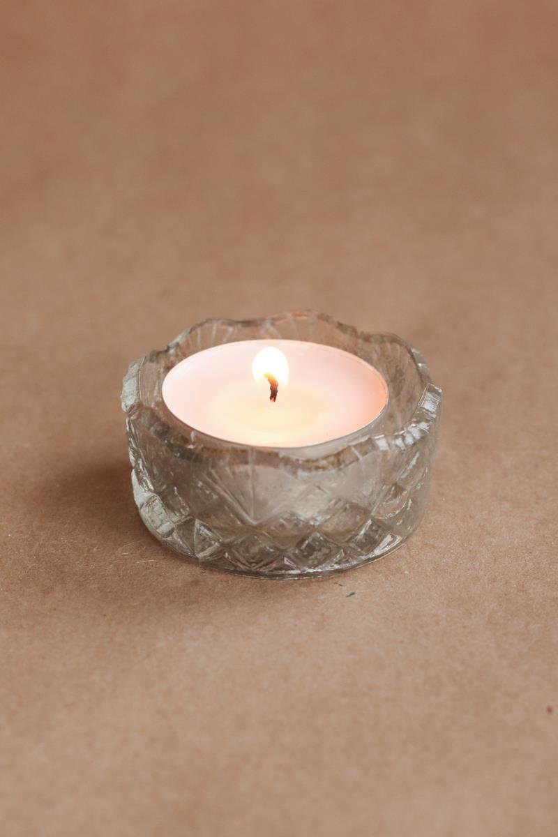 Molded Glass Tealight Holder