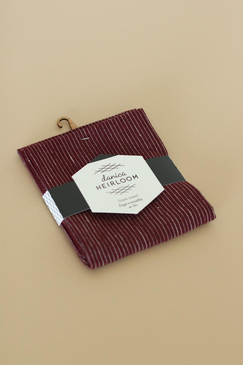 Wine Linen Tea Towel