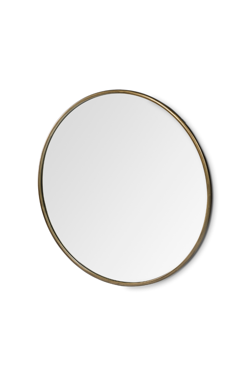 Piper Round Gold Mirror