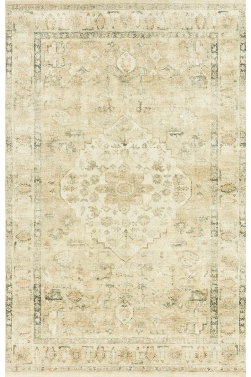 Rosette Collection - Sand / Ivory Rug