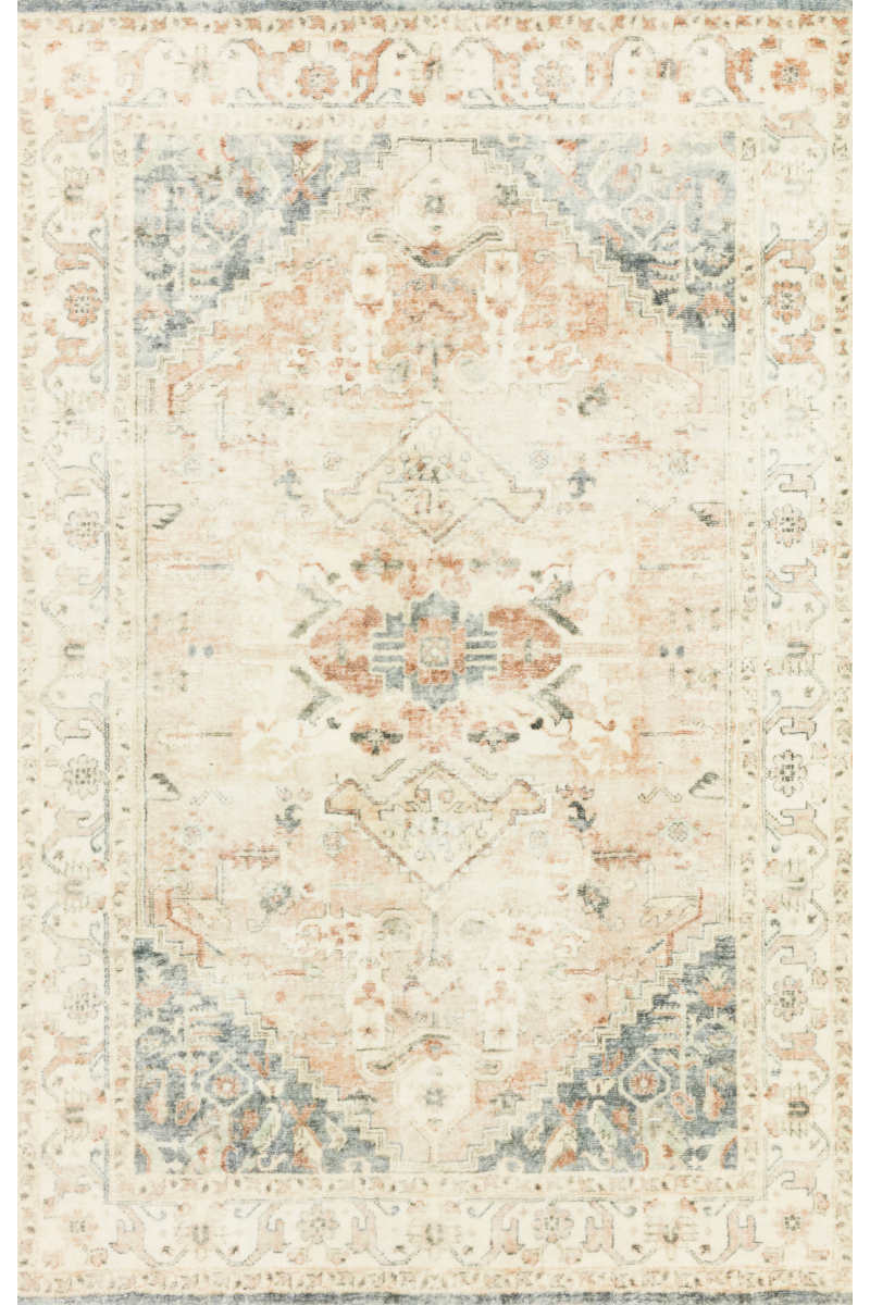 Rosette Collection - Clay / Ivory Rug