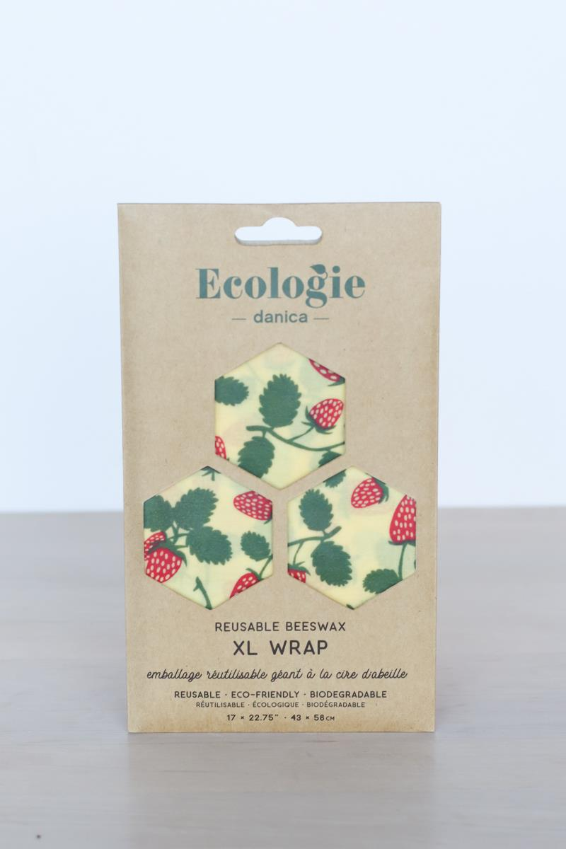 Berries & Fruit XL Beeswax Wrap