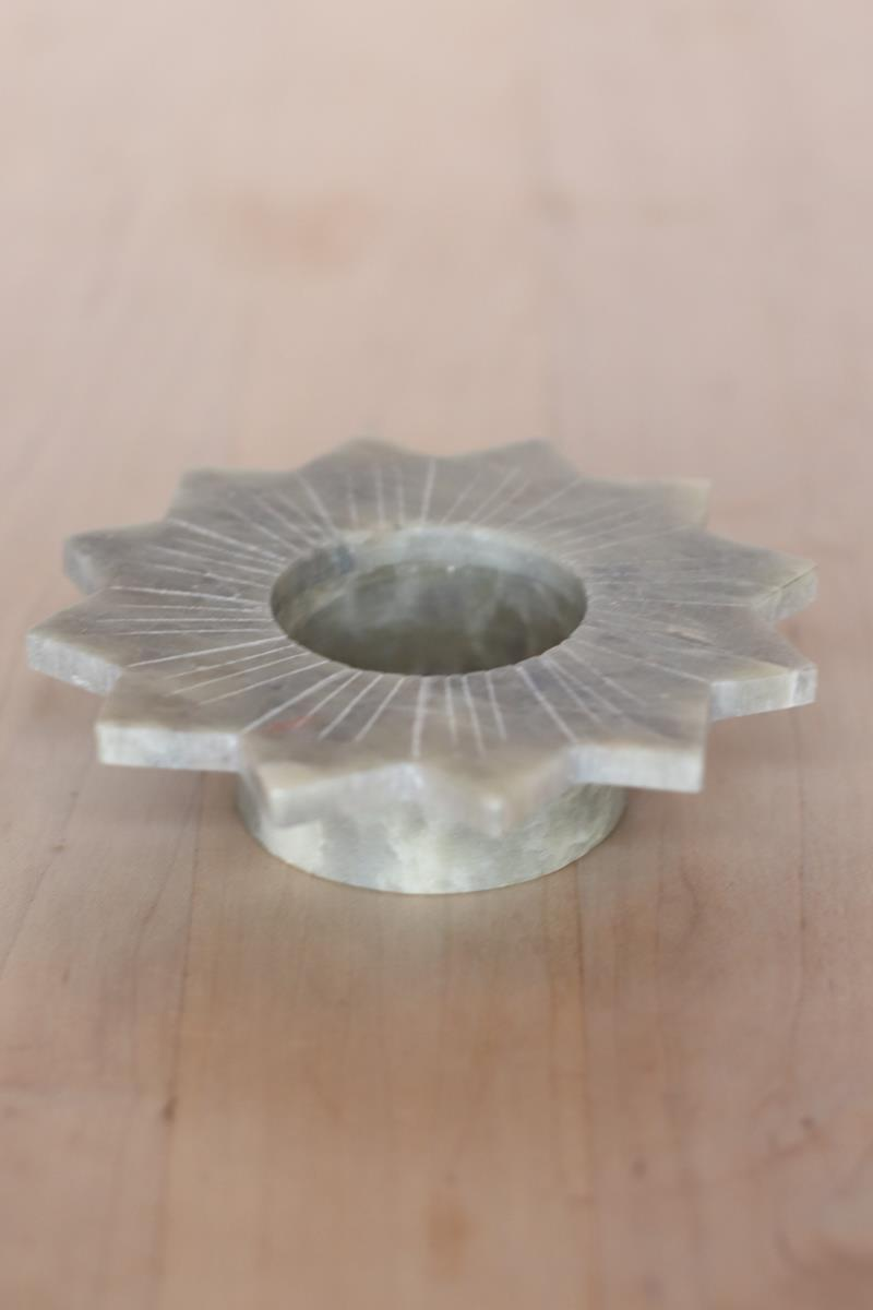 Lily Marble Candleholder
